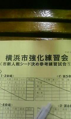 市強化練習会(<br />  シード決め1)